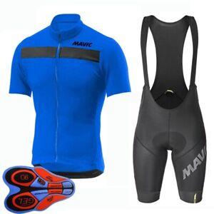 2021 Men Cycling Jersey Bib Shorts Set Bike Uniform Bicycle Short Sleeve Outfits