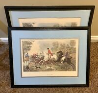 "2 Vintage P. L.DEBUCOURT ""THE FOX CHASE"" Engravings Exact Same Both Included"