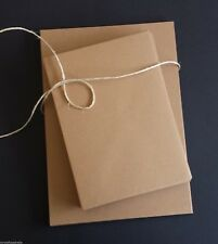 20 x A5 Brown Recycled Kraft Card 225gsm unsocred AND 20 C6 ENVELOPES