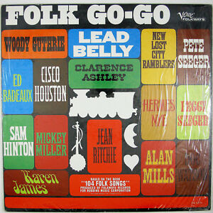 WOODY GUTHRIE, PETE SEEGER & OTHERS Folk Go-Go LP 1965 FOLK MUSIC NM- NM-