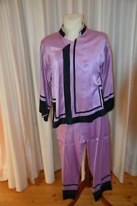 Aus Theaterfundus! Chinesisches Kostüm Nr.3 lila-schwarz ca. Gr. 40