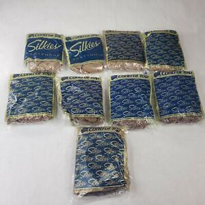 Lot of 9 Vintage Silkies Control Top Pantyhose X-Tall 115, 741, 742, 743 & 745