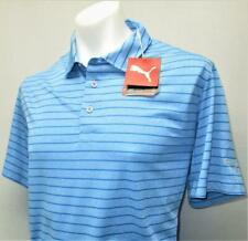 New Mens PUMA Rotation Dry Cell MEDIUM short sleeve golf polo shirt Ibiza blue