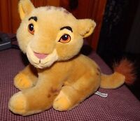 "Vintage Disney World Lion King Cub Baby Simba Plush Stuffed Animal Toy 9"" RARE"