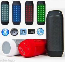 CASSA SPEAKER AEC BLUETOOTH FM TF AUX VIVAVOCE PULSE LED IPOD SMARTPHONE TABLET