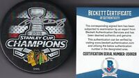 BECKETT PATRICK KANE SIGNED CHICAGO BLACKHAWKS 2015 STANLEY CUP CHAMPIONS PUCK 8