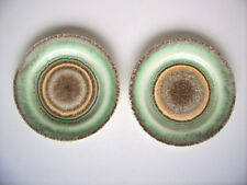 Keramik 2x Teller Elsterwerda Germany pottery Art Deco Spritzdekor c.1930