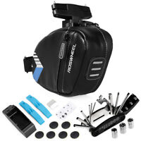 Portable  Bicycle Saddle Bag with Repair Tools Kits Waterproof Cycling Rear C9Y6