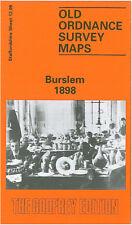 OLD ORDNANCE SURVEY MAP BURSLEM 1898
