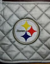Steelers Embroidered Grey Potholder