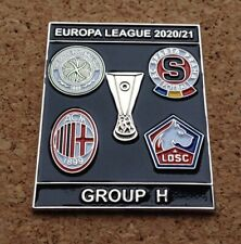 2020/21 Europa League Group H Pin/Badge [Celtic,Sparta Prague,AC Milan,Lille]