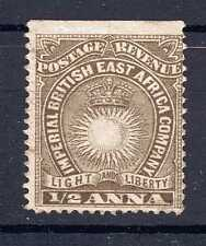 EAST AFRICA 1890-95 1/2 ANNA UNUSED NO GUM SG4 DULL BROWN
