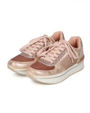 Qupid Tweed-04 Women Sequin and Glitter Lace Up Jogger Sneaker