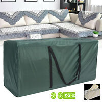 3 Size Heavy Duty Waterproof Garden Furniture Cushion Storage Bags Carry