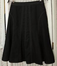 """CLAMONT Gored Wool Skirt 27"""" S Waist French-Inspired Korean Fashion Flared Godet"""