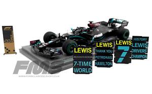 Spark S6488 143 2020 Mercedes W11 Lewis Hamilton Turkish GP World Champ F1 Model