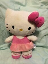 Cute & Sweet HELLO KITTY pink dress DOLL 12 inch Plush Doll 2012 BY Sanrio Co.