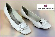 Jacqueline RIU Ballerines T. 39 Vernies Blanc Neige