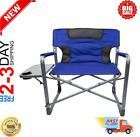 NEW Ozark Trail XXL Folding Padded Director Chair with Side Table, More Color