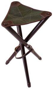 Tripod Stool Wooden Folding Chair Stool Seat Camping Fishing Hunting
