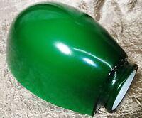 "GREEN CLAM SHELL HALF SHADE GOOSE-NECK DESK LAMP SHADE 2 1/4"" HOLDER"