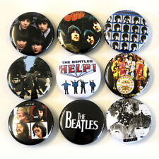 The Beatles Badge Set 1 Inch Buttons Pins x 9