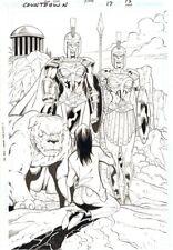 Countdown #17 p.15 - Amazonians Splash - 2008 art by Ron Lim & Justin Palmiott Comic Art