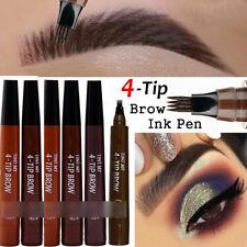 New 4 Head Eyebrow Pencil Dye Long Lasting Waterproof Fork Tip Pencil Makeup