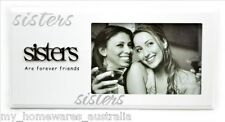 """Sister Photo Frame """"Sisters are Forever Friends"""" - Quality Gift"""