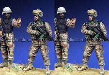 Mantis Min 35046 Moderno soldados estadounidenses 2 Figura conjunto Ww2 1/35th Model Kit Sin Pintar