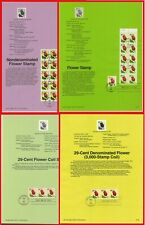 1991 United States Souvenir Page / 4 different sheets / Tulips / Flowers
