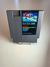 Nintendo NES Clu Clu Land First Edition Bergsala Pal B