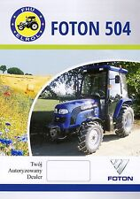 Foton Lovol 504 2014 catalogue brochure tracteur Traktor tractor rare