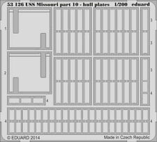 Eduard 1/200 USS Missouri part 10 - Hull Plates PE set for Trumpeter kit