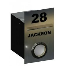 Jackson Stainless Steel Letterbox - Brickin Mailbox or Fence Mount Letter Box