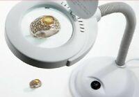 Desktop Magnifying Glass 5X Lens Multi-Function Built-In LED Light Table Lamp