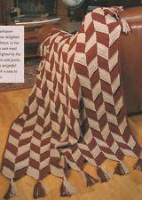 Knitting Pattern ~ Harlequin Panels Afghan ~ Instructions