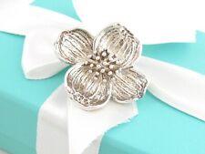 Dogwood Flower Brooch Pin Auth Tiffany & Co Silver
