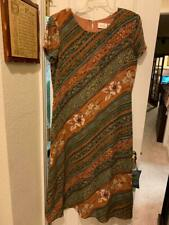 LADIES SIZE 14 DRESS, FULLY LINED, earth tones