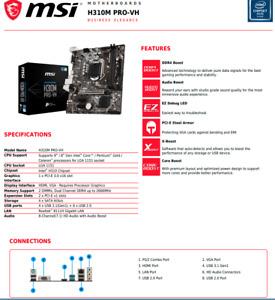msi h310 pro plus Motherboard