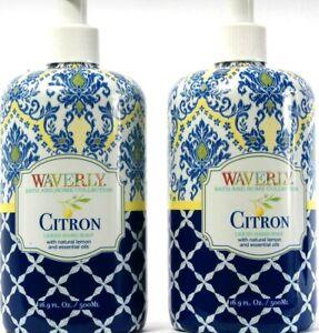 2 Count Waverly  Bath Home Collection Citron Liquid Hand Soap Lemon 16.9Fl oz