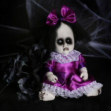 "SCARY CREEPY DOLL HALLOWEEN HORROR DECORATION PROP HORROR 13"" STANDING GOTHIC"