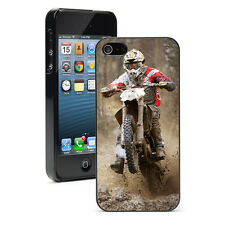 For Apple iPhone X XS Max XR 6 7 8 Plus Hard Case Cover 1368 Motocross Racer Mud