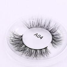 New Stylish 1 Pair 3D Real Mink Fur False Eyelashes Messy Cross Long Lahses #A04