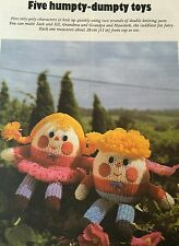 KNITTING PATTERN Jean Greenhowe 5 Humpty Dumpty Toy Dolls Toys Egg RARE