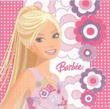 3 Serviettes en papier Barbie Fleurs Paper Napkins Barbie Playful Places