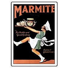 Marmite Maid with Tray steel fridge magnet    (hb)