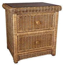Elizabeth Cane/Wicker/Rattan 2 Drawer Bedside Table