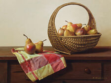 FRUIT ART PRINT - Still Life with Pears by Zhen-Huan Lu 24x30 Kitchen Poster