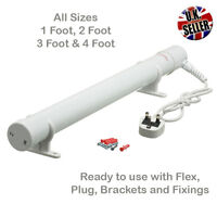Electric Tube Heater 1ft, 2ft, 3ft, 4ft For Greenhouse with Mounting Brackets